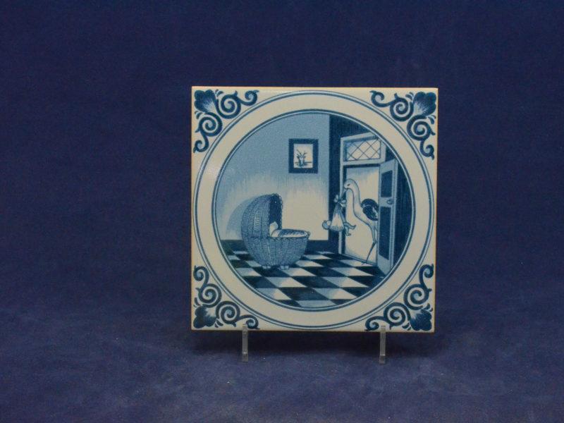 Tegel Delfts Blauw : Delfts blauwe tegel in houten lijst brocante en curiosa nova vidas
