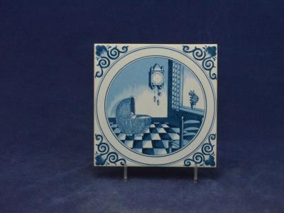 Delfts Blauwe Tegels : Geboorteborden en tegels : geboortetegel 13 x 13 cm delfts blauw